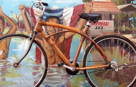Bamboo Bike grafity wall