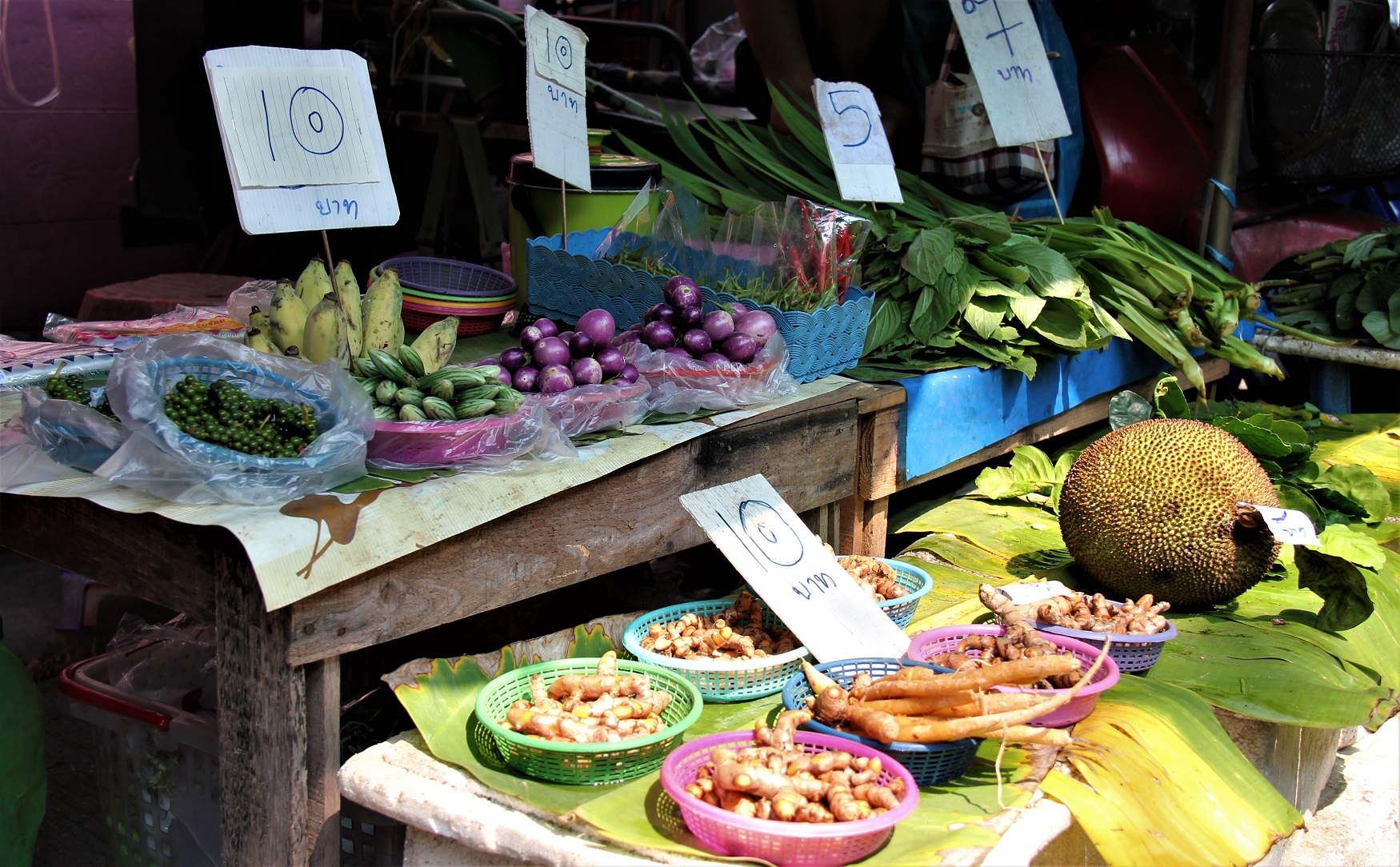 Fresh fruit and vegetables on a Bangkok market