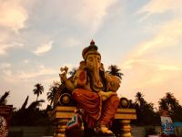 Ganesha statue at sunset Bangkok