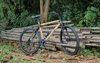 Bamboo bicycle for tours in Bangkok